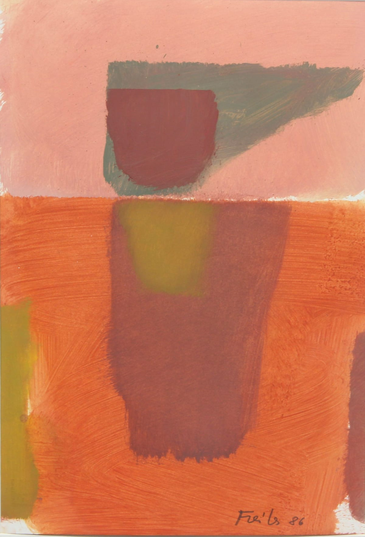 Antonio Freiles SENZA TITOLO, 1986 Oil on paper. 48 x 33 cm (18.9 x 13.0 in)
