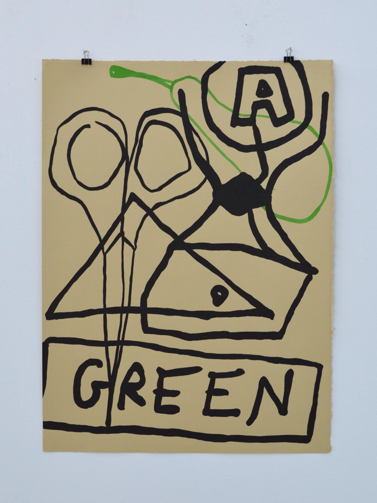 David Iain Brown, The Green Button, 2018