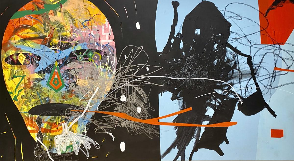 Herbert Baglione, Basquiat Homage 1, 2018