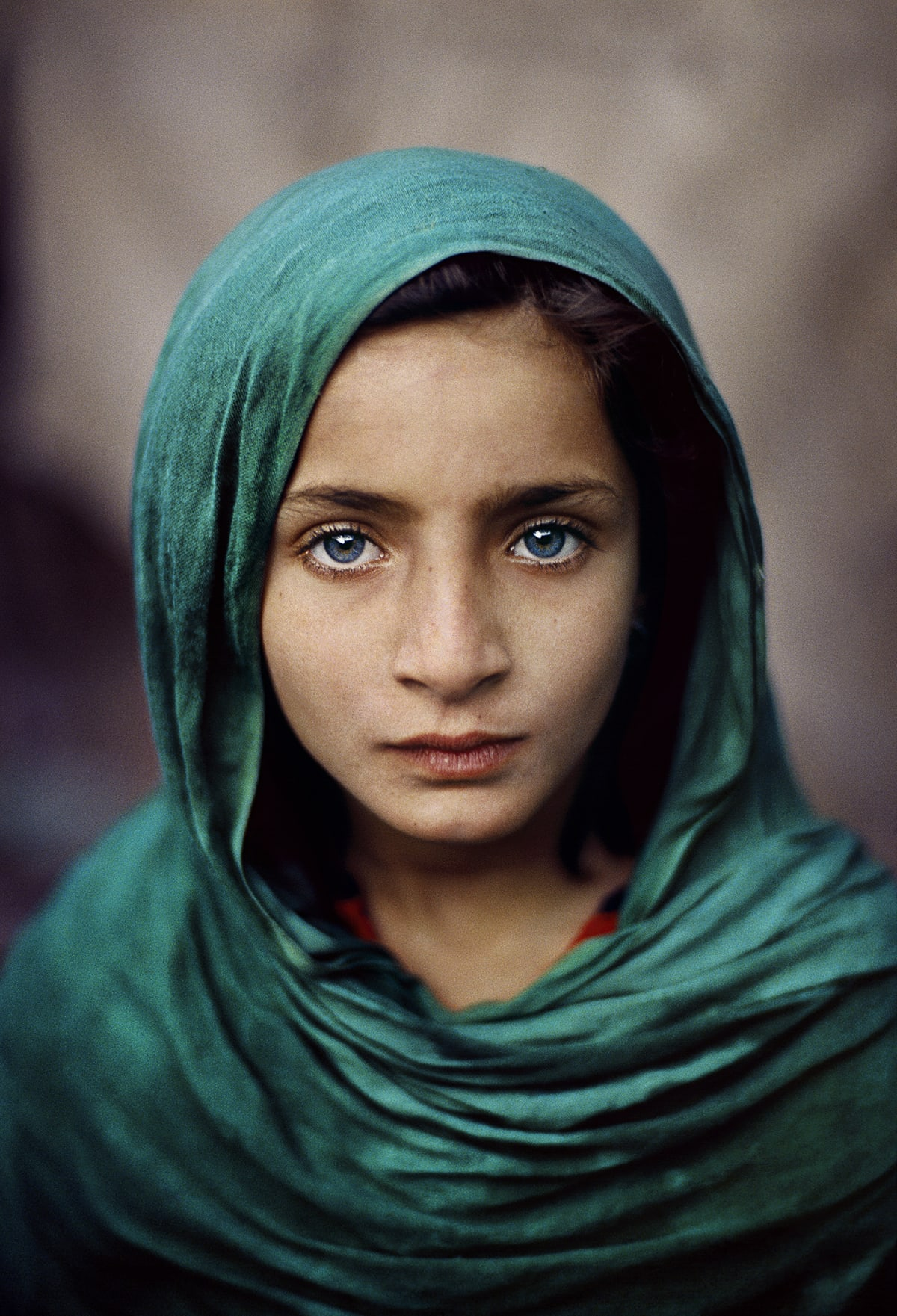 Afghan Girl with Green Shawl, 2002