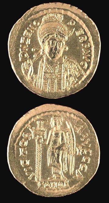 Byzantine Coins - emperor zeno