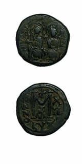 Byzantine Coins - emperor justin ii