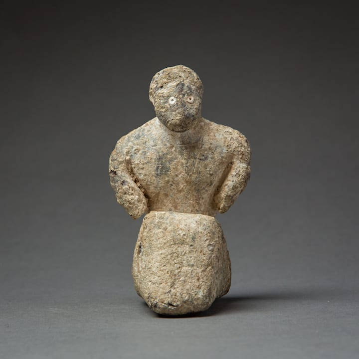 Bactria-Margiana Figure, 3000 BCE - 2000 BCE Lead 9 x 5 x 5 cm 3 1/2 x 2 x 2 in