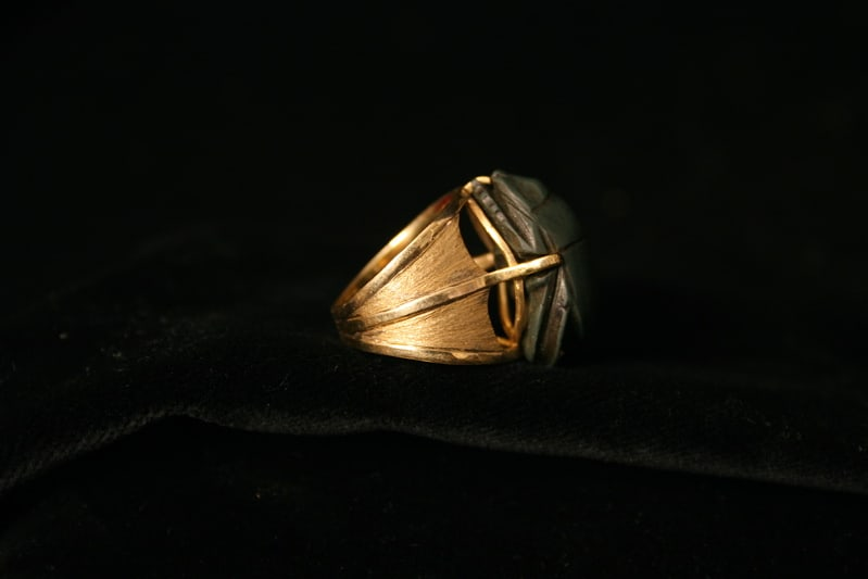 Egyptian scarab rings