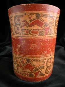 mayan cylindrical vases
