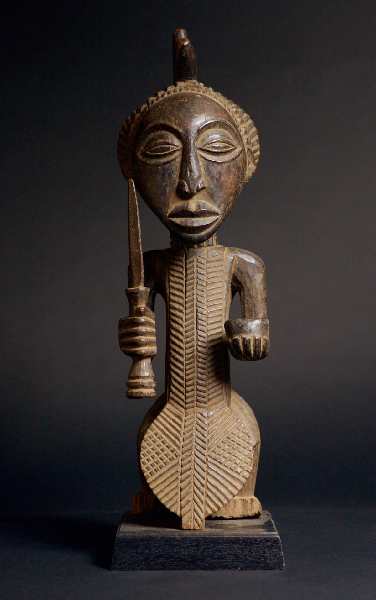 Lulua Figure, 19th - 20th century Wood height 57 cm height 22 1/2 in