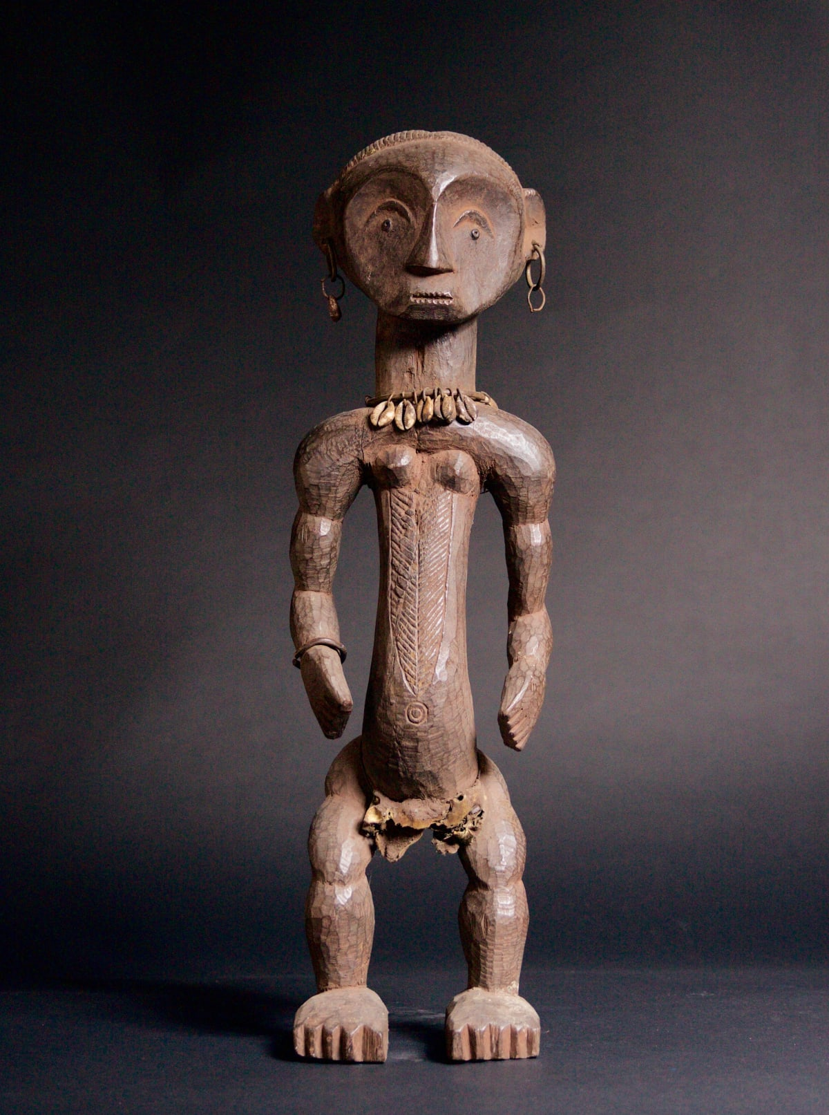 Ngbaka Sculpture, 19th - 20th century Wood height 72 cm height 28 3/8 in