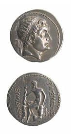 Greek Coins - bactrian silver coins