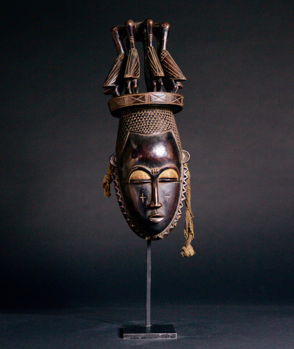 Baule Mask, 19th - 20th century Wood height 46 cm height 18 1/8 in