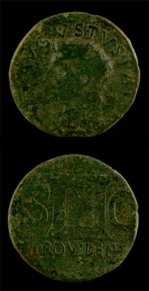 Roman Coins - emperor tiberius