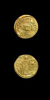 Byzantine Coins - emperor maurice tiberius