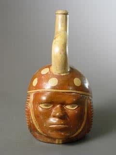 moche portrait head vessels