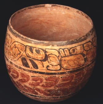 mayan bowls, plates and vessels