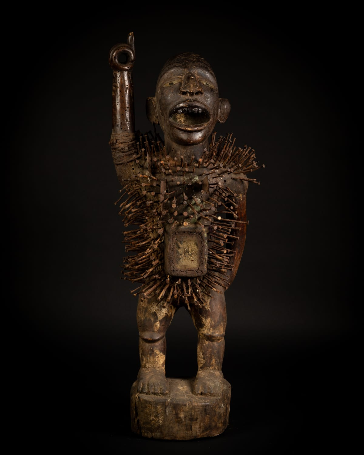 Nkondi Power Figure, 19th - 20th century Wood height 94 cm height 37 1/8 in