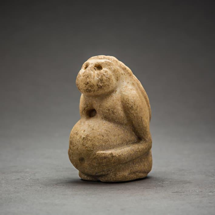 Sumerian Fertility Idol, 3000 BCE - 1500 BCE Marble 2.5 x 3.25 x 1.75