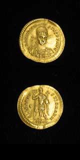Roman Coins - emperor theodosius ii