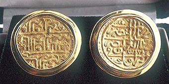 coin and seal cufflinks