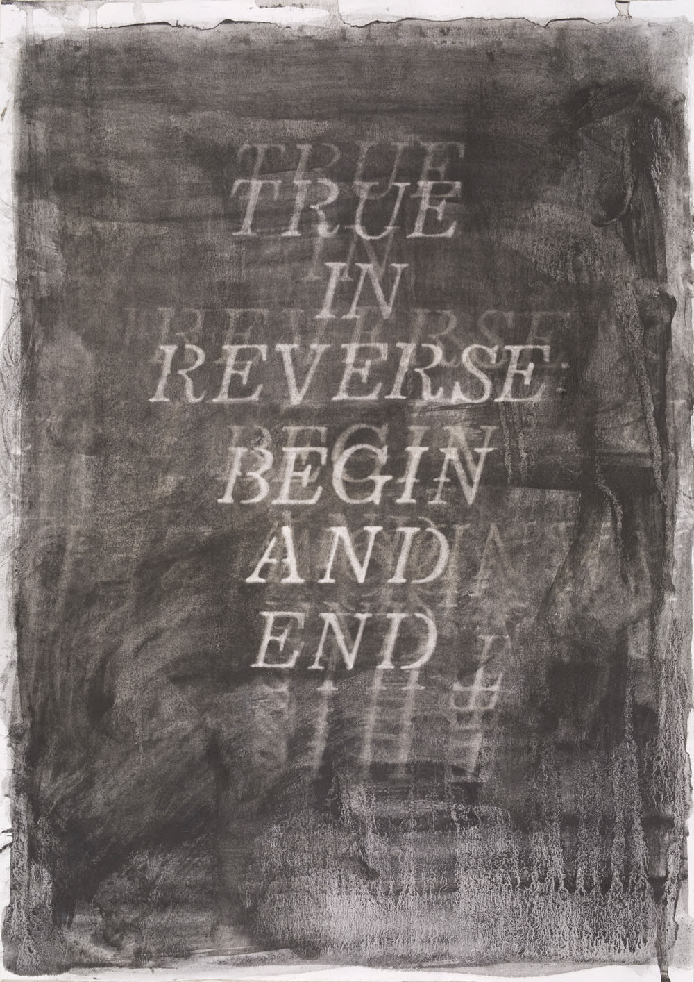 Katherine Spindler, True in Reverse: Begin and End, 2019