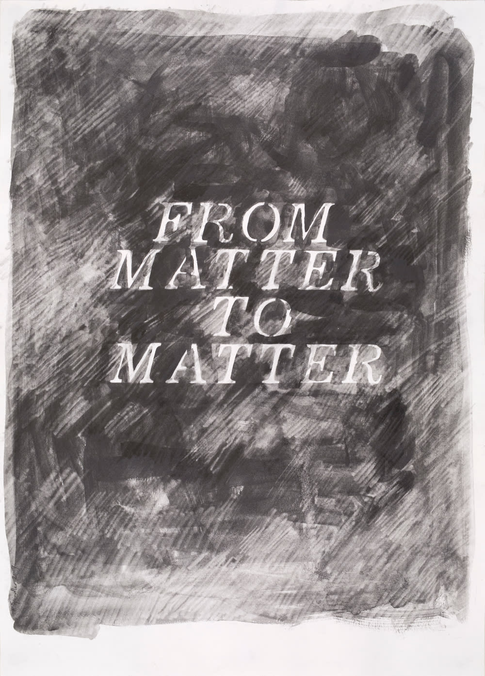 Katherine Spindler, From Matter to Matter (drawing), 2019