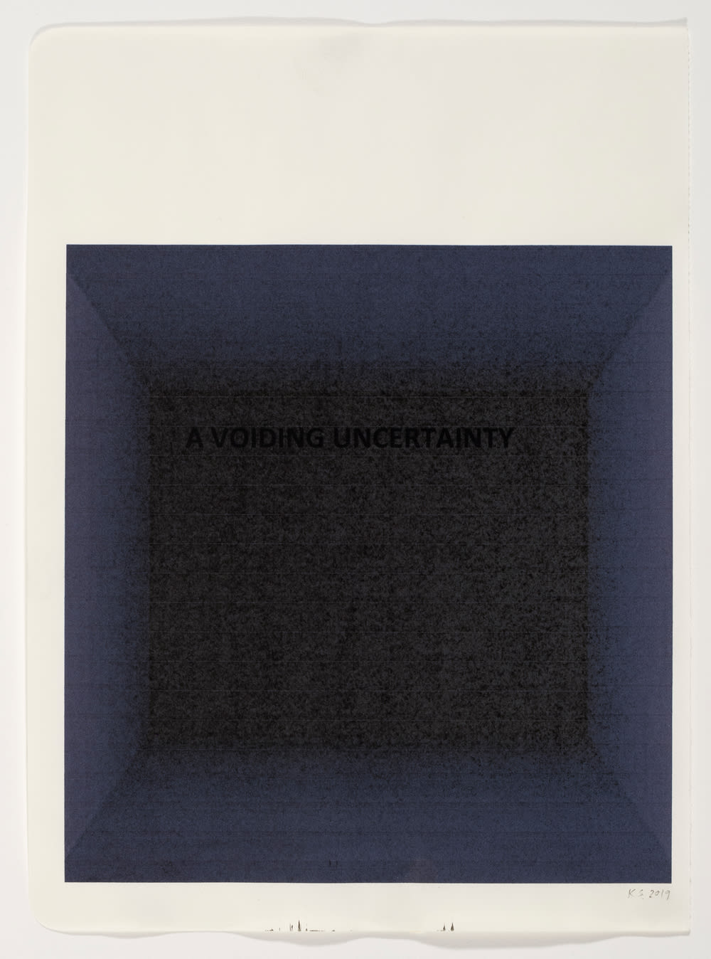 Katherine Spindler, A Voiding Uncertainty , 2019