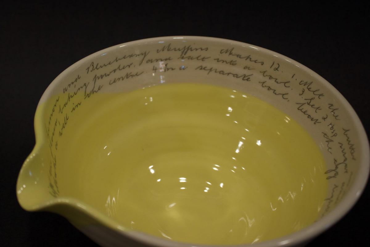 Alice Funge Medium Bowl Lemon Yellow, 2019 Stoneware 13 x 23 x 20 cm 5 1/8 x 9 1/8 x 7 7/8 in