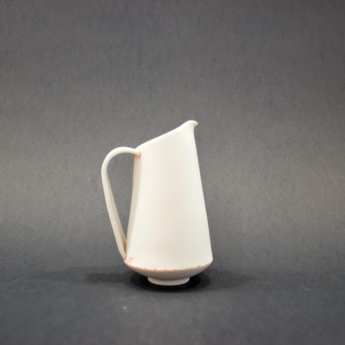 Jessica Thorn Milk Jug, Orange, 2019 Porcelain 13 x 8 x 6 cm 5 1/8 x 3 1/8 x 2 3/8 in