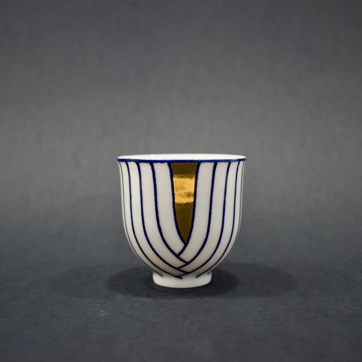 Rhian Malin Layered Lines Cup, 2019 Porcelain 7 x 7 x 7 cm 2 3/4 x 2 3/4 x 2 3/4 in