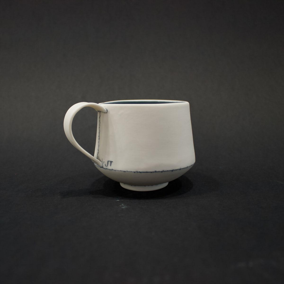 Jessica Thorn Tea Cup, Grey, 2019 Porcelain 7 x 11 x 8 cm 2 3/4 x 4 3/8 x 3 1/8 in