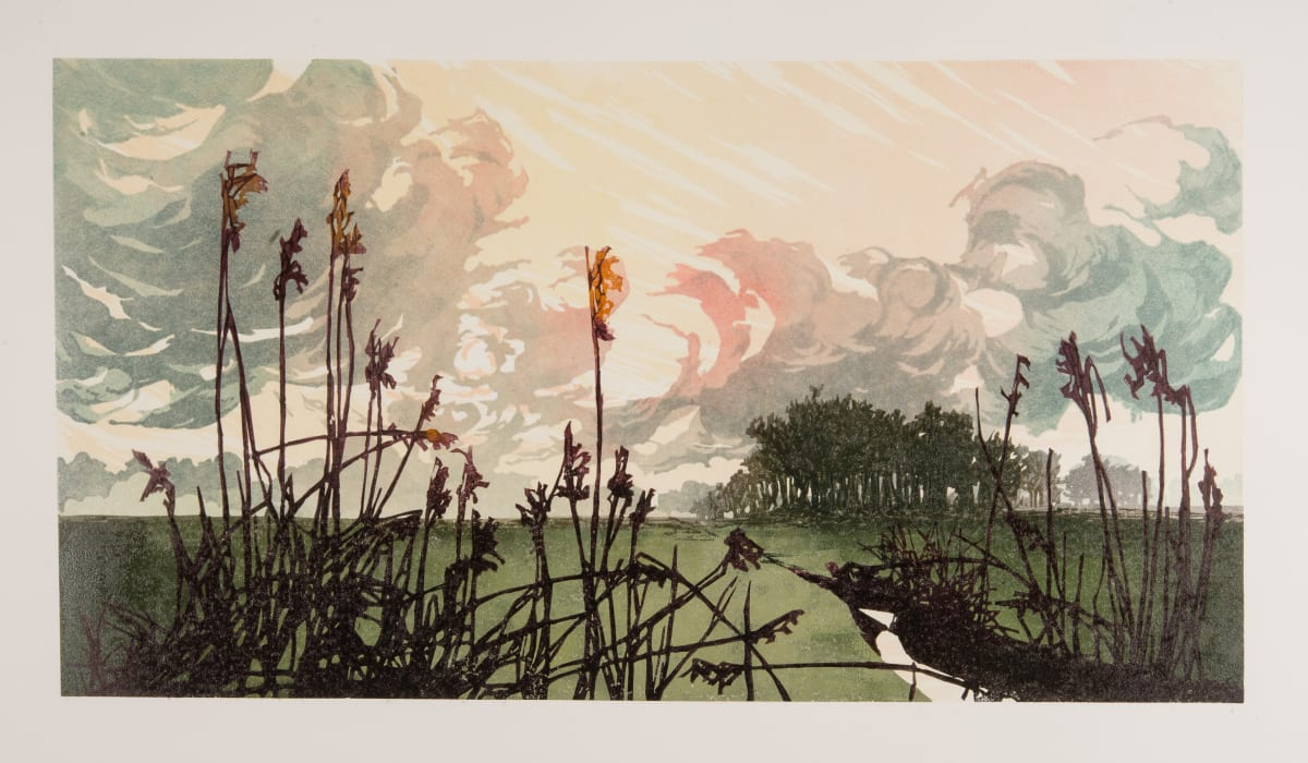 Laura Boswell Mid February, 2019 Linocut 29 x 53.5 x 2 cm 11 3/8 x 21 1/8 x 3/4 in Edition 3 of 8