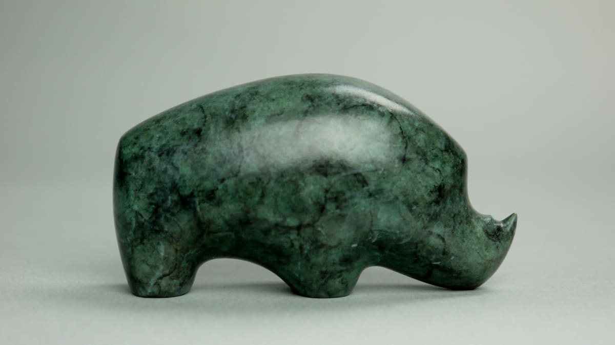 Stephen Page Rhino, 2019 Bronze Sculpture 4.5 x 8 x 4 cm 1 3/4 x 3 1/8 x 1 5/8 in Edition 47 of 50