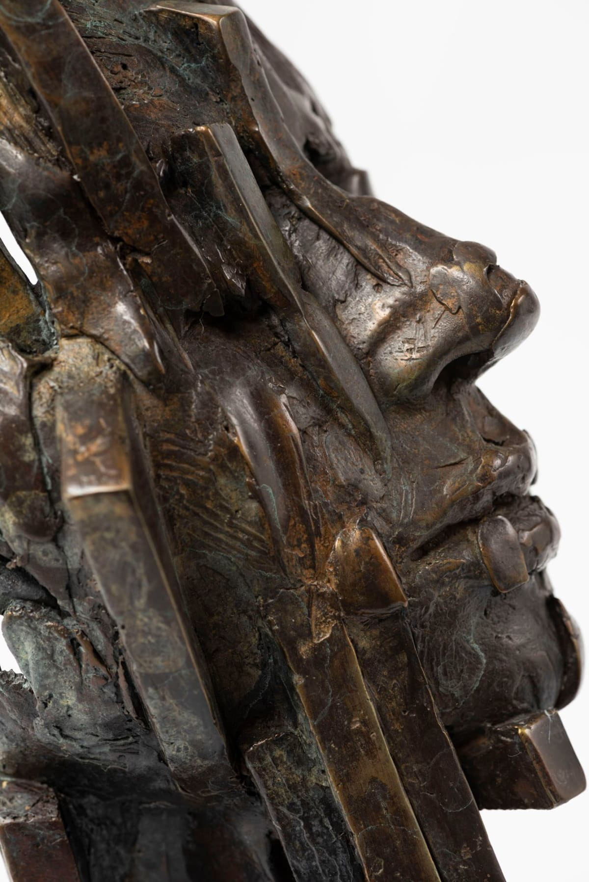 Damon Price Fractured, 2019 Bronze Sculpture 63 x 16 x 18 cm 24 3/4 x 6 1/4 x 7 1/8 in Edition 1 of 1