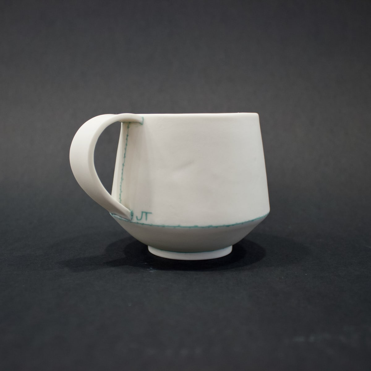 Jessica Thorn Breakfast Cup, Mint, 2019 Porcelain 8 x 12 x 9 cm 3 1/8 x 4 3/4 x 3 1/2 in