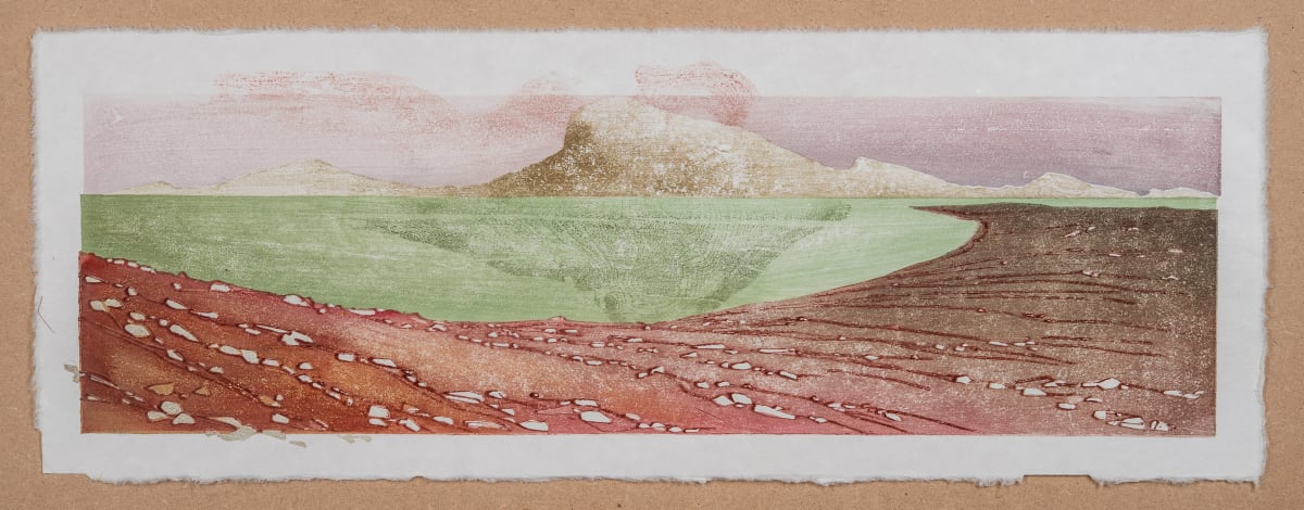 Laura Boswell Near Applecross, Early Light, 2019 Japanese Woodblock Print 56 x 18 x 3 cm 22 1/8 x 7 1/8 x 1 1/8 in Edition 1 of 1