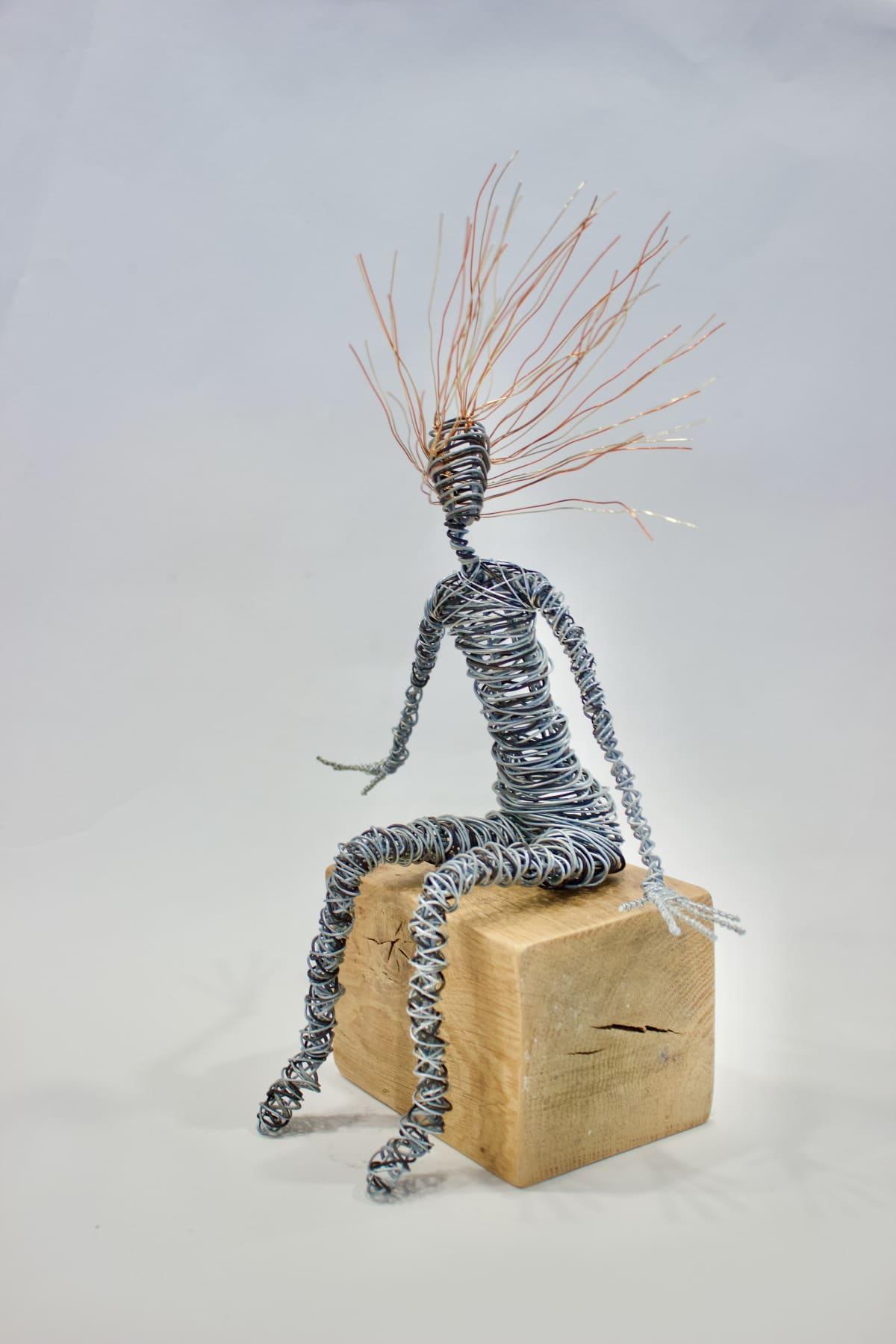 Rachel Ducker Sitting, 2019 Wire Sculpture 36 x 16 x 16 cm 14 1/8 x 6 1/4 x 6 1/4 in
