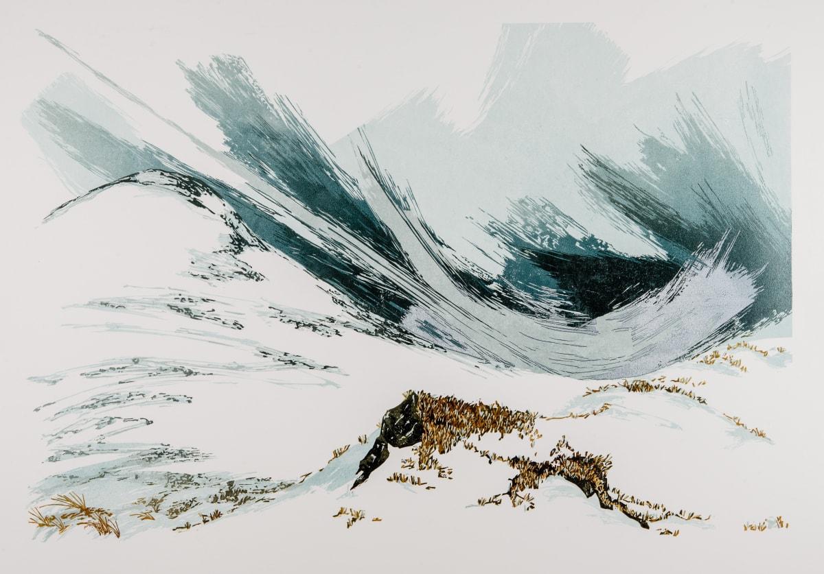 Laura Boswell Granite, 2017 Linocut 40 x 60 x 2 cm 15 3/4 x 23 5/8 x 3/4 in Edition 6 of 11