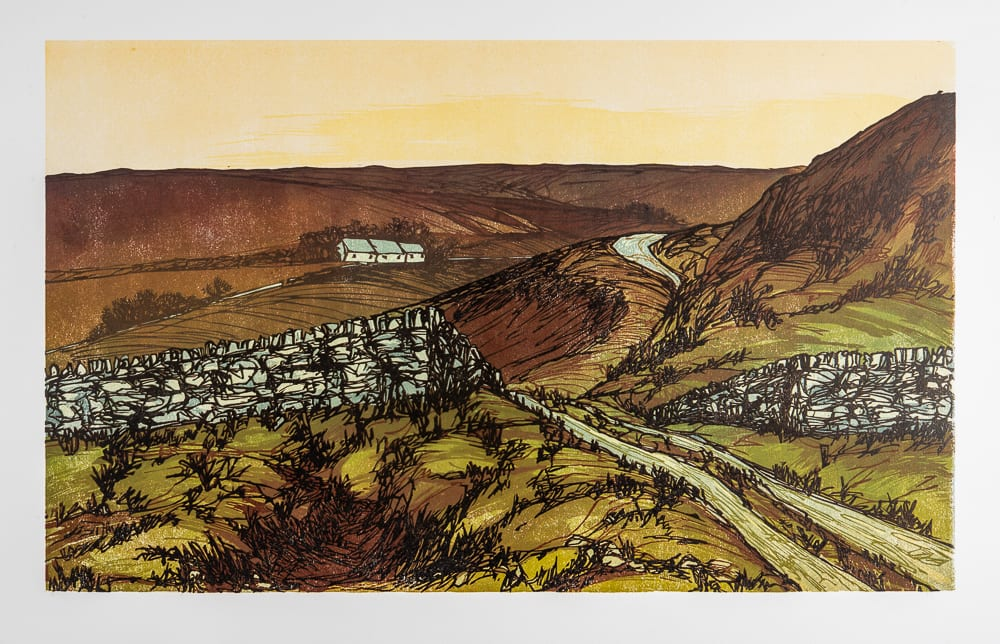 Laura Boswell December Afternoon, Yorkshire, 2018 Linocut 50 x 30 x 3 cm 19 3/4 x 11 3/4 x 1 1/8 in Edition 1 of 13