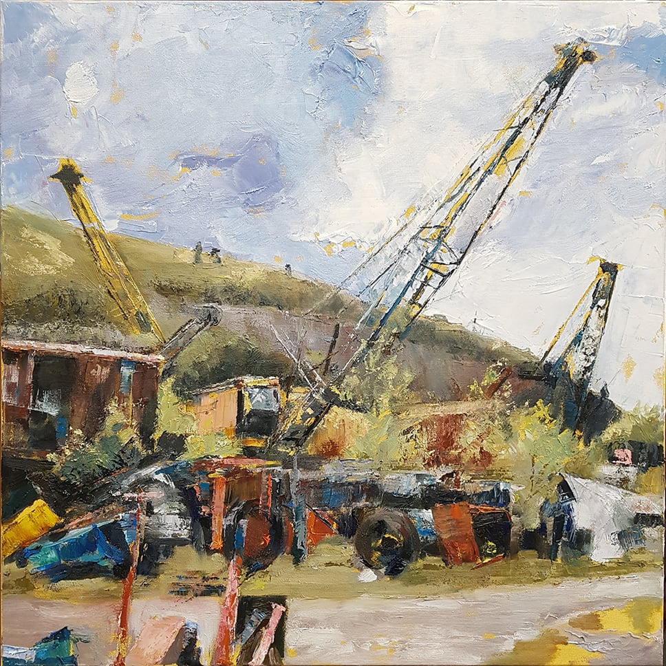 Julia Brown Threlkfeld Quarry, 2019 Oil on Canvas 60 x 60 x 4 cm 23 5/8 x 23 5/8 x 1 5/8 in