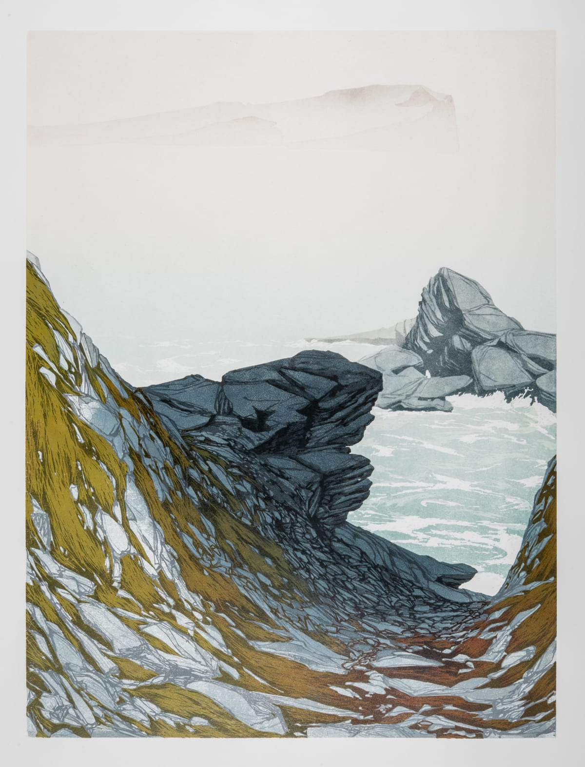 Laura Boswell Skye Sea Mist, 2019 Linocut 44 x 59 x 3 cm 17 3/8 x 23 1/4 x 1 1/8 in Edition 1 of 16