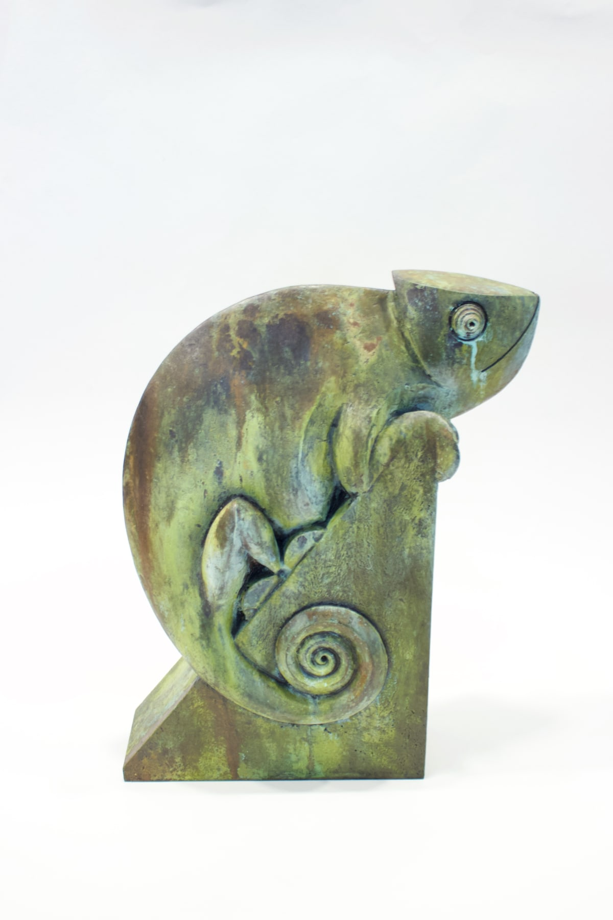 Paul Harvey Chameleon, 2019 Mixed Media Sculpture Patinated Bronze Resin 35 x 20 x 11.5 cm 13 3/4 x 7 7/8 x 4 1/2 in Open Edition