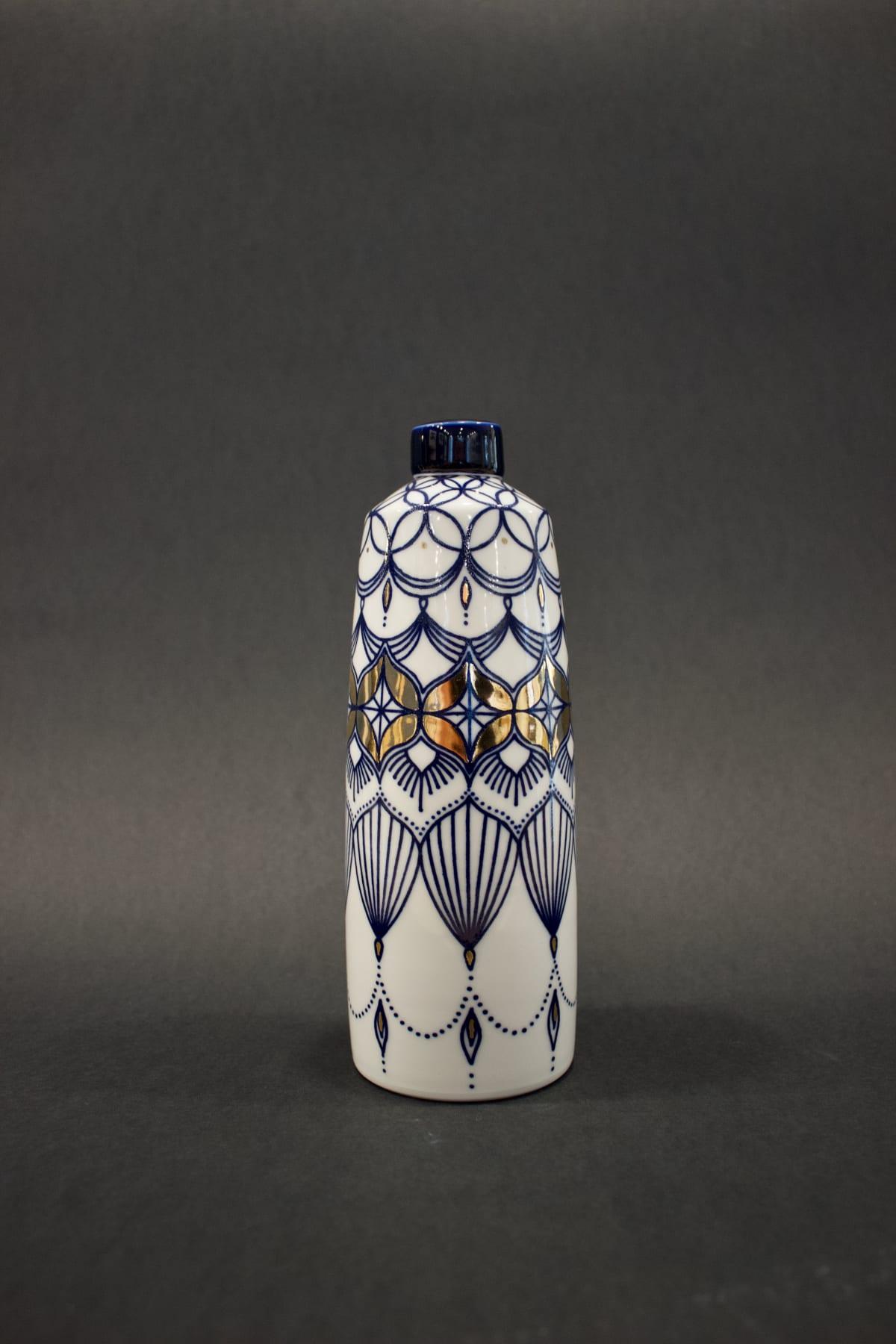 Rhian Malin Large Straight Sided Mandala Ginger Jar, 2019 Porcelain 21 x 8 x 8 cm 8 1/4 x 3 1/8 x 3 1/8 in