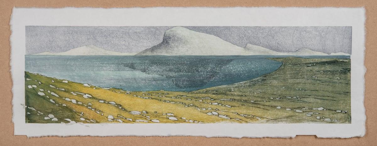 Laura Boswell Near Applecross, Bright Grass, 2019 Japanese Woodblock Print 56 x 18 x 3 cm 22 1/8 x 7 1/8 x 1 1/8 in Edition 1 of 1