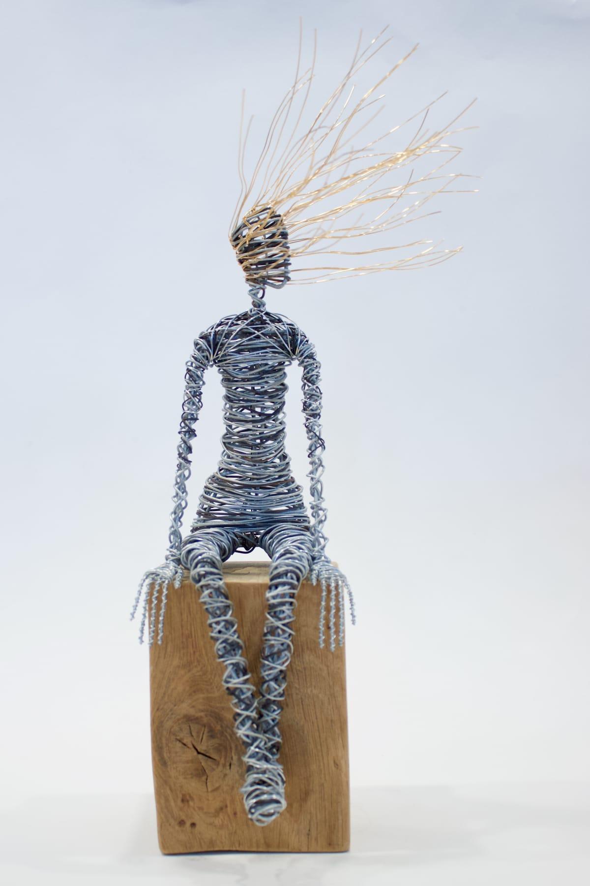 Rachel Ducker Sitting, 2019 Wire Sculpture 36 x 25 x 16 cm 14 1/8 x 9 7/8 x 6 1/4 in