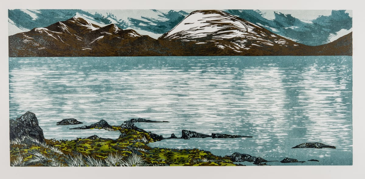 Laura Boswell Deep Water, 2019 Linocut 60 x 28 x 3 cm 23 5/8 x 11 1/8 x 1 1/8 in Edition 7 of 10