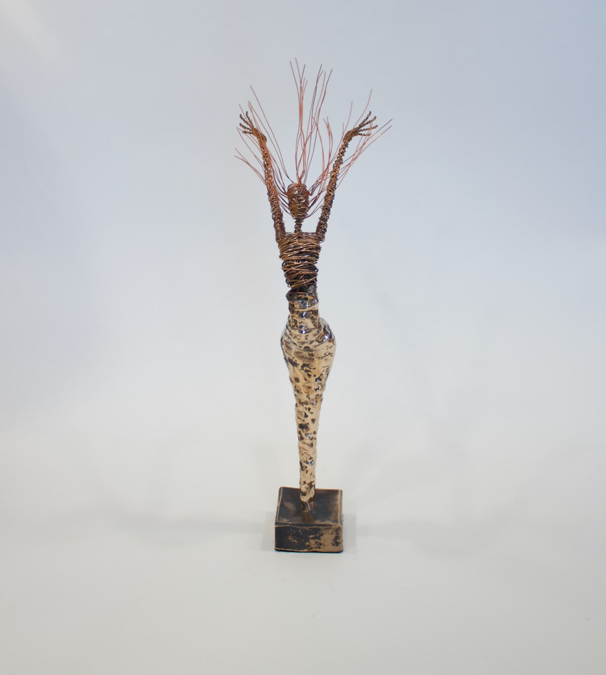 Rachel Ducker Bronze Arms Up, 2019 Bronze & Wire Sculpture 45 x 32 x 20 cm 17 3/4 x 12 5/8 x 7 7/8 in