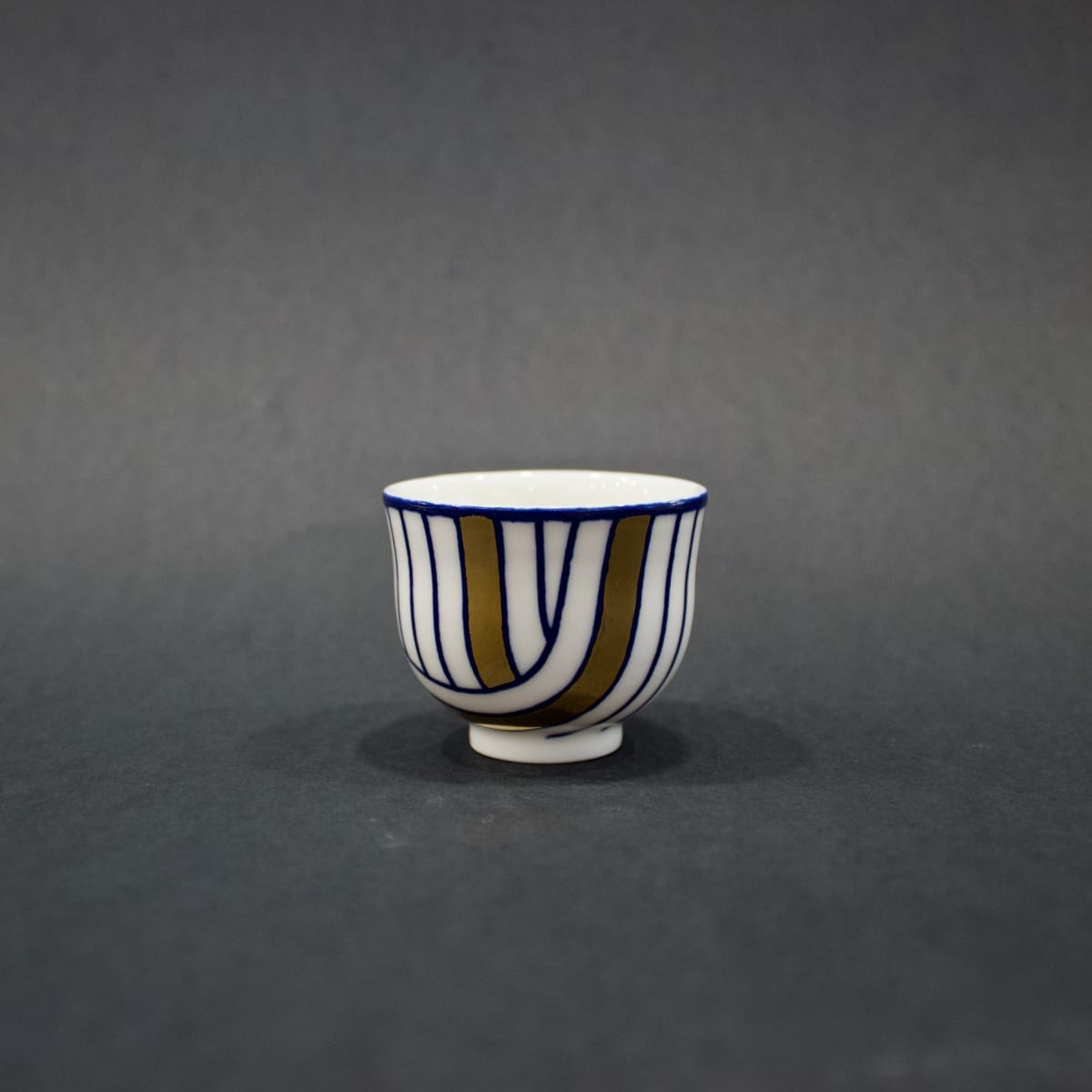 Rhian Malin Layered Lines Cup, 2019 Porcelain 5 x 6 x 6 cm 2 x 2 3/8 x 2 3/8 in