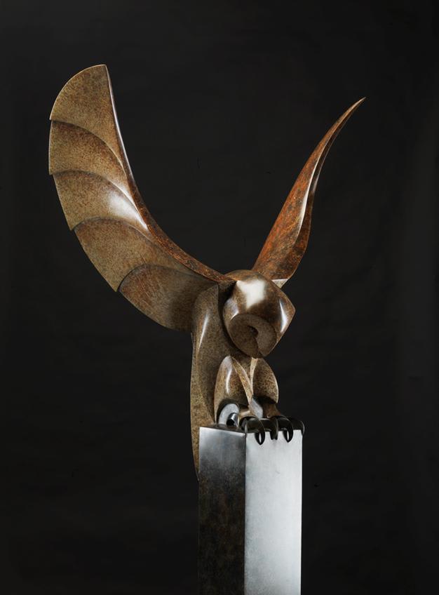 Paul Harvey Barn Owl, 2019 Bronze Sculpture 167.5 x 65 x 45 cm 66 x 25 5/8 x 17 3/4 in Edition 8 of 12