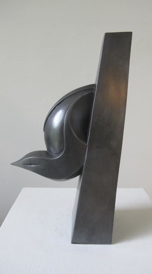 Paul Harvey Nuthatch, 2019 Mixed Media Sculpture Cold Cast Pewter Resin 23 x 7 x 14 cm 9 1/8 x 2 3/4 x 5 1/2 in Open Edition