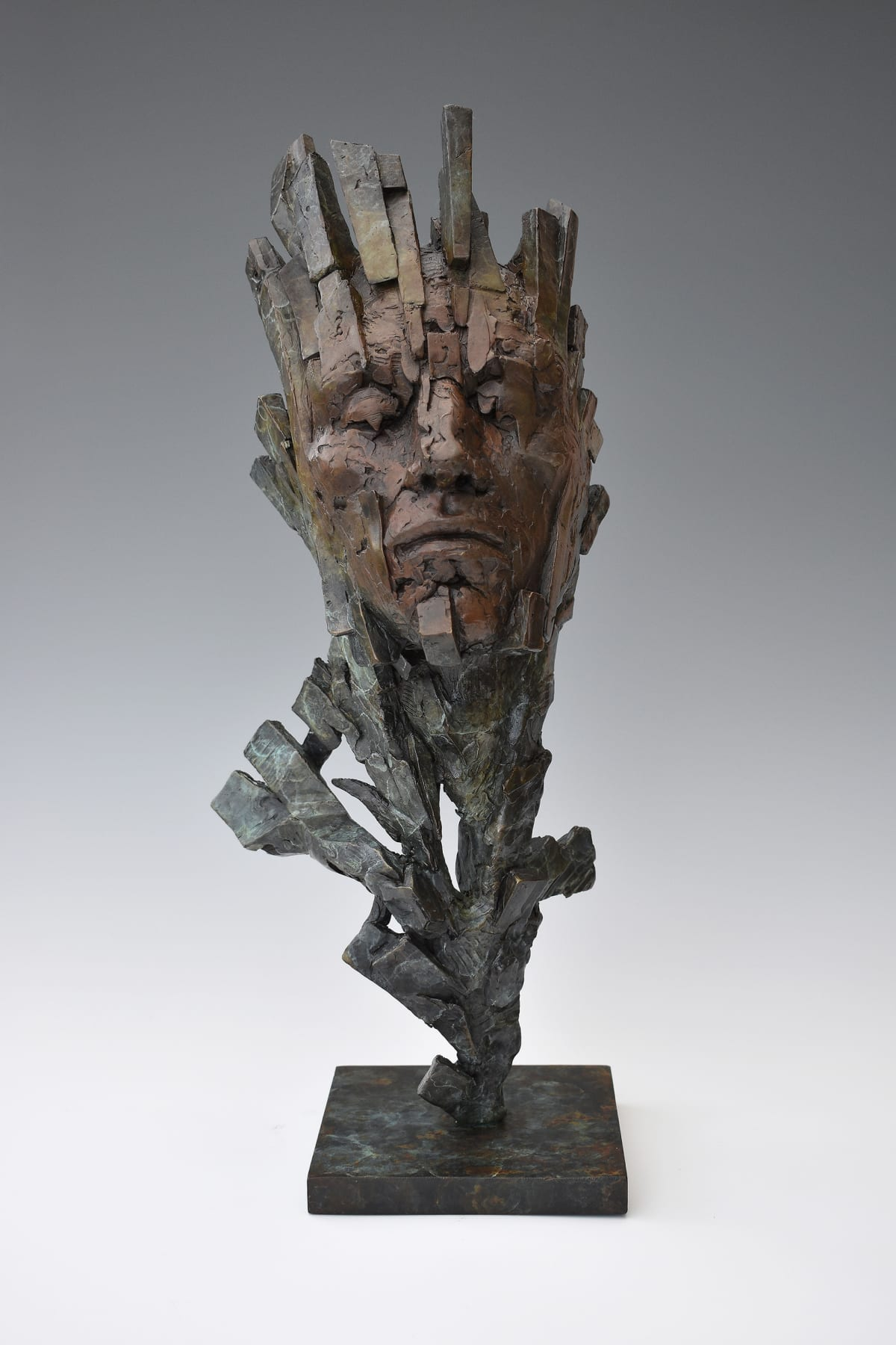 Damon Price Fractured, 2019 Bronze Sculpture 63 x 16 x 18 cm 24 3/4 x 6 1/4 x 7 1/8 in Edition 1 of 1