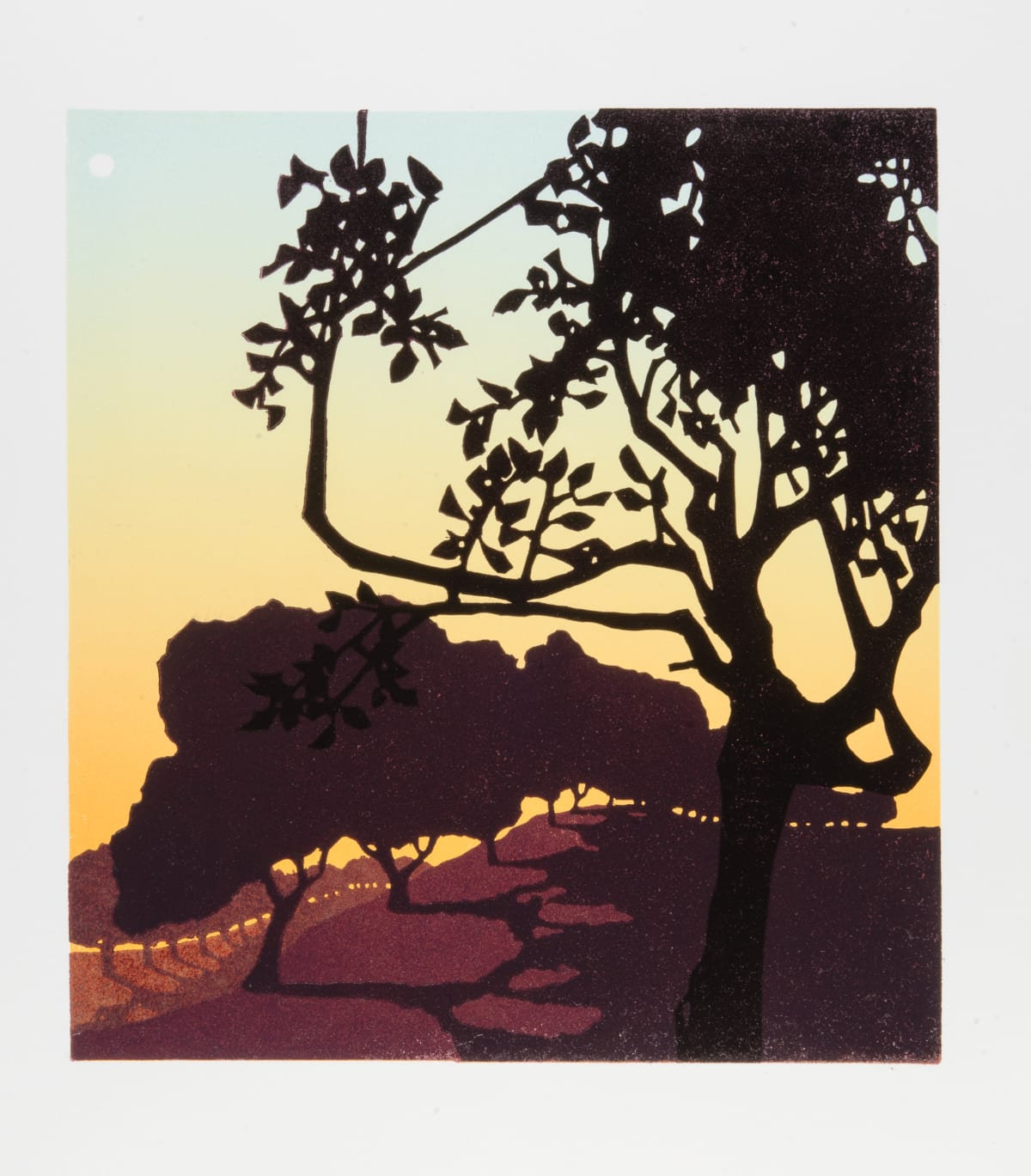 Laura Boswell Dawn Moon, 2018 Linocut 22 x 24 x 3 cm 8 5/8 x 9 1/2 x 1 1/8 in Edition 7 of 10