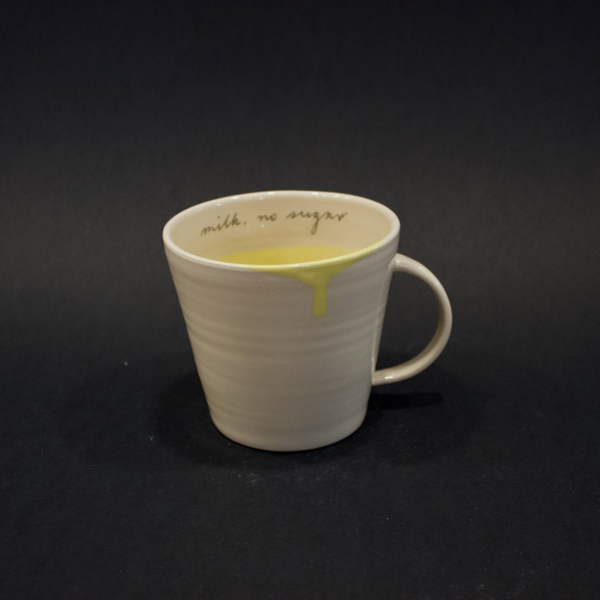 Alice Funge Mug Lemon Yellow, 2019 Stoneware 10 x 8.5 x 8.5 cm 4 x 3 3/8 x 3 3/8 in